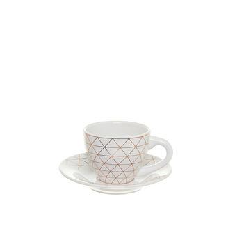 Tazza da té in ceramica con decoro geometrico