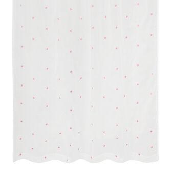 Tenda in voile con stelline rosa