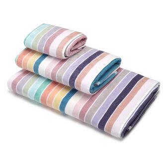 Asciugamano puro cotone velour a righe