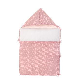 Sacco nanna in cotone rosa con stampa stelline