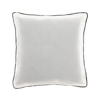 Cuscino in lino con overlock