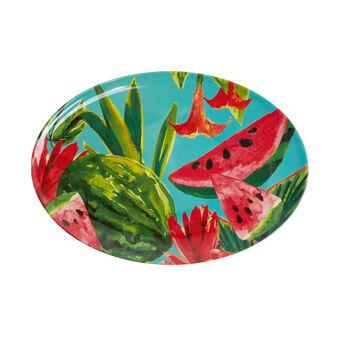 Piatto ovale da portata melammina angurie