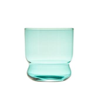 Bicchiere in vetro con piedistallo