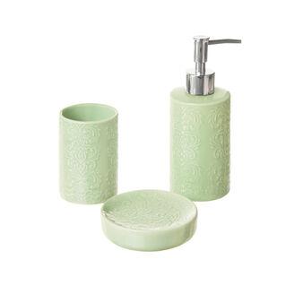 Set di 3 accessori bagno in ceramica