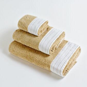 Asciugamano puro cotone riccio bordo sangallo