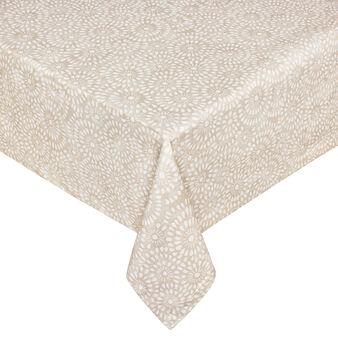 Tovaglia in cotone stampa effetto merletto