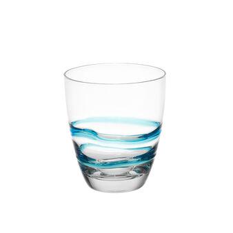 Bicchiere vetro fantasia spirale