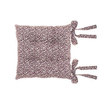 Cuscino sedia in cotone stampa foglie