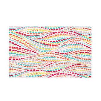 Tappeto bagno in cotone stampa bubbles