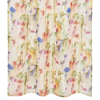 Tenda puro lino stampa floreale