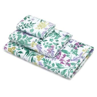 Asciugamano puro cotone velour fantasia botanica