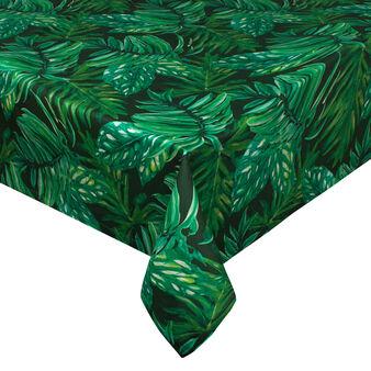 Tovaglia puro cotone foglie tropicali dark