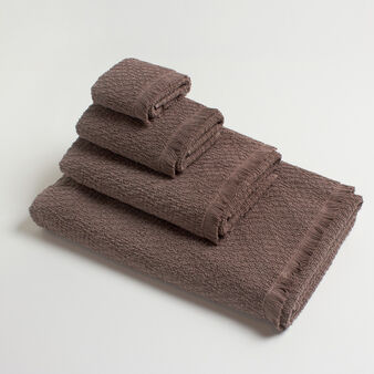 Asciugamano in puro cotone con frange