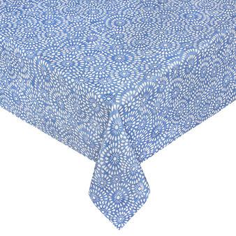 Tovaglia idrorepellente in cotone stampa effetto merletto
