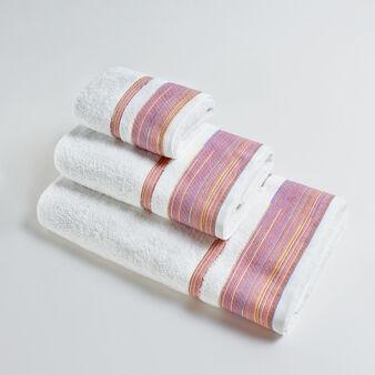 Asciugamano puro cotone riccio multiriga