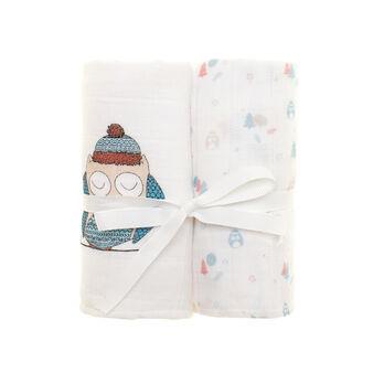 Set due asciugamani garzati fantasia