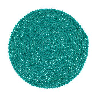 Tovaglietta rotonda carta nodi