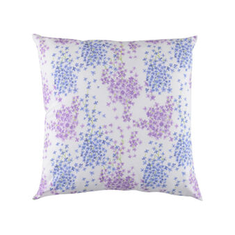 Cuscino puro cotone fantasia floreale