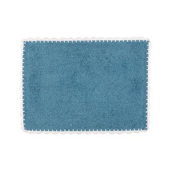 Tappeto bagno puro cotone bordo crochet