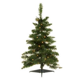 Alberello di Natale con luci LED H 80 cm