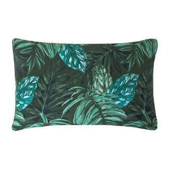 Federa puro cotone percalle foglie tropicali