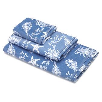 Asciugamano puro cotone velour fantasia marina