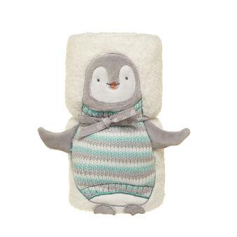 Plaid peluche pinguino in pile