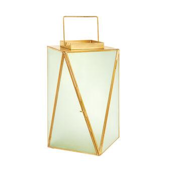 Lanterna a triangoli in vetro e metallo