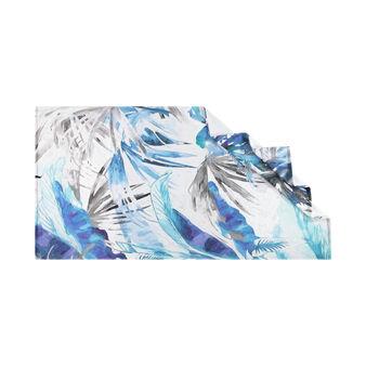 Telo mare puro cotone stampa tropicale