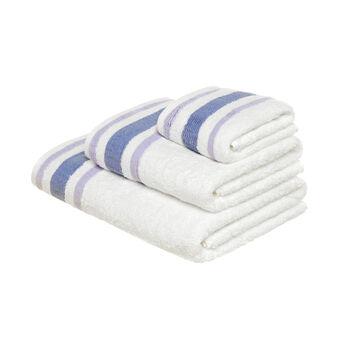 Asciugamano in puro cotone bordo goffrato