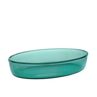 Pirofila ovale in vetro colorato