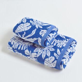 Asciugamano puro cotone tinto filo velour