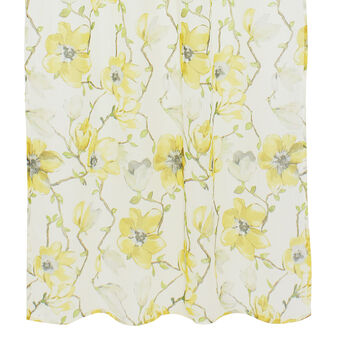 Tenda misto lino stampa floreale