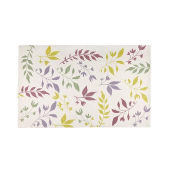 Tappeto bagno cotone stampa botanica