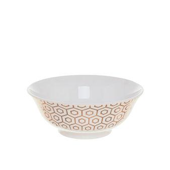 Coppa in ceramica con decoro geometrico