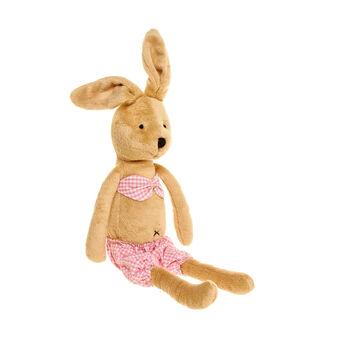 Pupazzo coniglietta in costume microquadri