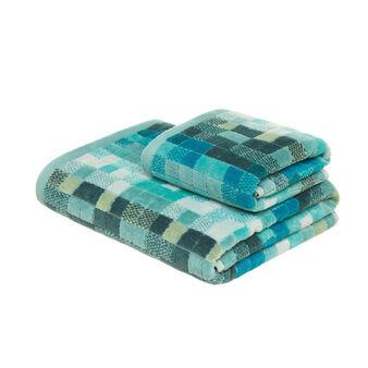 Asciugamano puro cotone jaquard mosaico