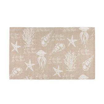 Tappeto bagno cotone stampa marina