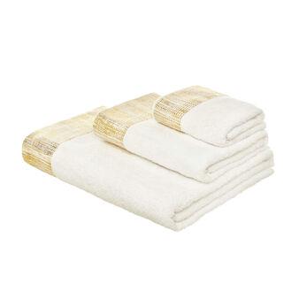 Asciugamano  in puro cotone con bordo dorato
