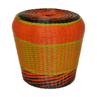 Pouf intrecciato multicolore Vietnam