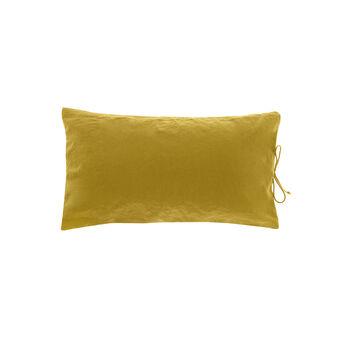 Cuscino rettangolare in cotone con laccetti
