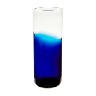 Vaso cilindrico vetro colorato in pasta sfumato