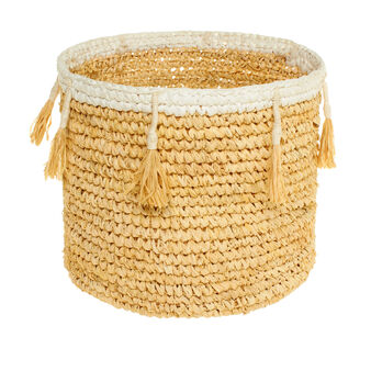 Cesto in sisal con nappine Lillo