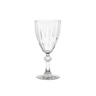 Calice vino in vetro con scanalature