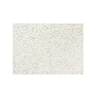 Set 2 tovagliette cotone stampa effetto merletto