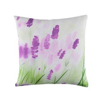 Cuscino puro cotone stampa lavanda