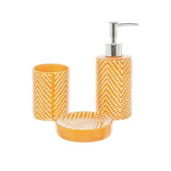 Set accessori bagno in ceramica a pois