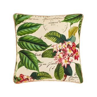 Cuscino stampa fiori tropicali