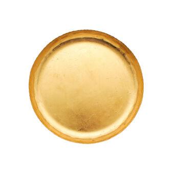 Piatto piano in ferro interno dorato