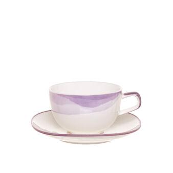 Tazzina da tè in porcellana decorazione sfumata